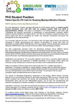 PhD position advert